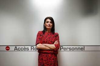 Céline Cardoso, patiente partenaire à l'Institut régional du cancer de Montpellier.À Montpellier le 7 février 2018.